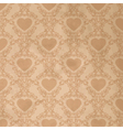 Vintage background with heart vector
