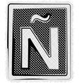 Polka dot font letter � vector