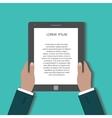 Businessman uses digital tablet pc vector