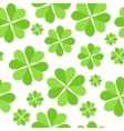 Green clover leaves seamless pattern background vector