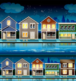 Suburb at night vector