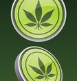 Pot leaf icon vector