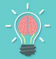 Brain and idea concept vector