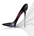 Black shoe and veil vector