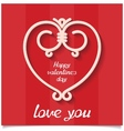 Just sweet love design card for 14 february vector