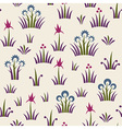 Seamless floral retro pattern of classic style vector
