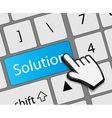 Keyboard solution button with mouse hand cursor vector