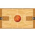 Basketball court and ball vector