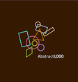 Abstract shapes set logo template vector