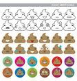 Poop emoticons vector