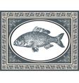 Fish antique vector