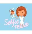 Girl is taking selfie vector
