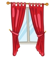 Cartoon home window vector