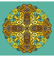 Ornamental round lace in fantasy style vector