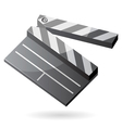 Isometric icon of clapper board vector