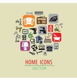 Home icon set vector