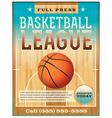 Basketball league flyer or poster vector