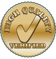 Golden quality seal vector