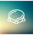 Tambourine thin line icon vector