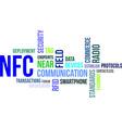 Word cloud nfc vector