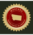 Star label montana vector