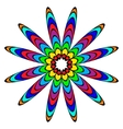 Colorful flowerlike ornament vector