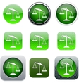 Balance green app icons vector