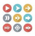 Arrow modern flat icons vector