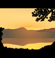 Mountain sunset vector
