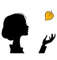 Beauty girl silhouette vector