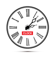 Retro white abstract alarm clock isolated on white vector