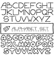 Doodle letters set of two full alphabets vector