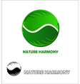 Nature harmony logo design template vector