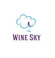 Wine sky vector