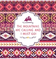 Navajo seamless colorful tribal pattern with vector