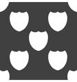 Shield protection web icon flat design seamless vector