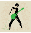 Young guitar player vector