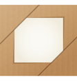 Paper banner on the cardboard background vector