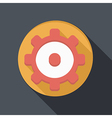 Flat icon with a shadow symbol settings vector