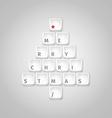 Christmas tree made of computer keys vector
