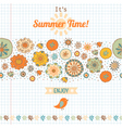 Summer set flowers and labels banner vector