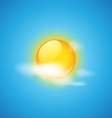 Cloud and sun weather icon vector