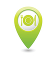 Restaurant icon green map pointer vector