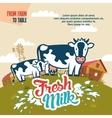 Fresh milk from farm to table vector