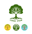 Tree logo design template vector