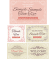 Vintage invitations and frames vector