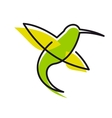 Graceful green hummingbird vector
