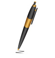Black pen vector