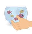 Fish aquarium vector