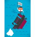 Sinking ship vector